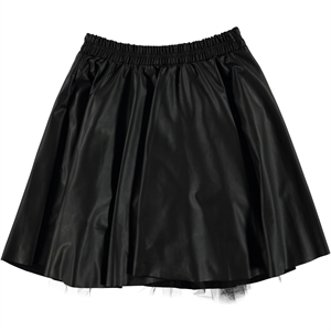 Cvl Teen Black Leather Skirt Girl 14-17 Years