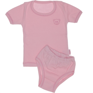 Kujju Underwear Combed Cotton Team Pink, 12-24 Months