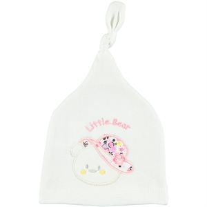 Albimama Combing Animal Hat 0-3 Months, White-Pink (1)