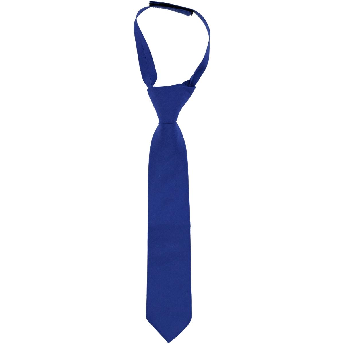 Civil Boy's Plain Satin Tie, Blue Saks The Ages Of 2-8