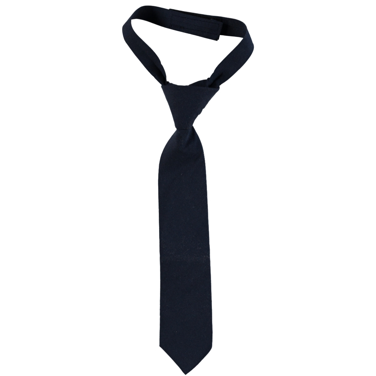 Civil Boy's Plain Satin Tie, Dark Blue With The Ages Of 2-8