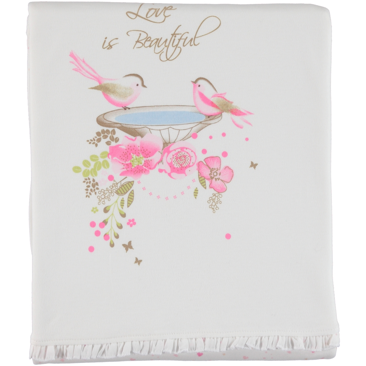 Baby Center Combed cotton Pink Blanket, 85x95 cm