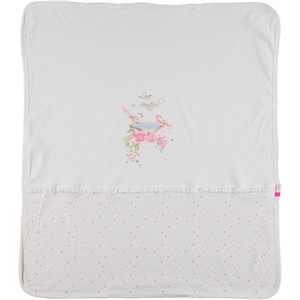 Baby Center Combed cotton Pink Blanket, 85x95 cm (2)