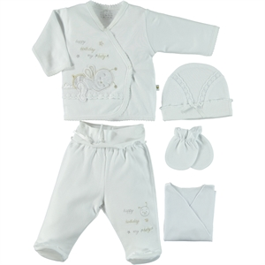 Minidamla Combed cotton 0-3 months White 5 Zibin Team (1)
