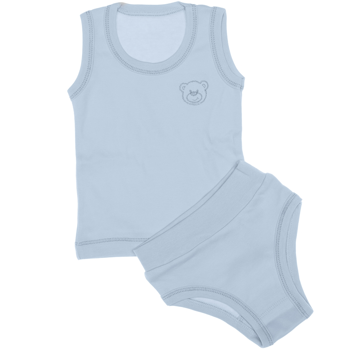 Kujju Combed Cotton Underwear Blue Team 3-9 Months