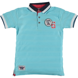 Civil Boys Blue Combed Cotton Polo Shirt 6-10 Years