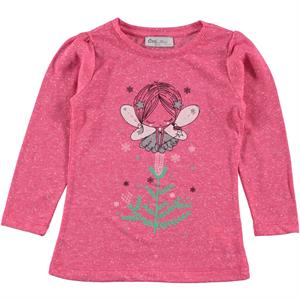 Cvl Girl Kids Sweatshirt Fuchsia Combed Cotton Age 2-5