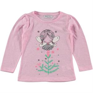 Cvl Combed Cotton Kids Girl Pink Sweatshirt For 2-5 Years