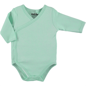 Kujju Combing Mint Green Bodysuit With Snaps Baby 1-6 Months