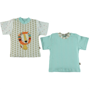 Babycool Combed cotton 2-gang T-shirt 3-12 months latte