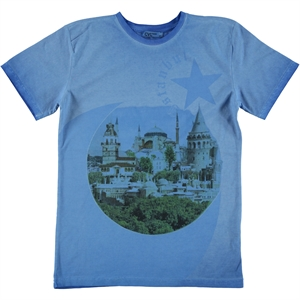Cvl Teen Combed Cotton Boy T-Shirt Blue 14-16 Saks