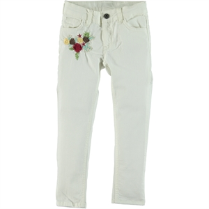 Civil Girls White Linen Girl Pants 6-10 Years