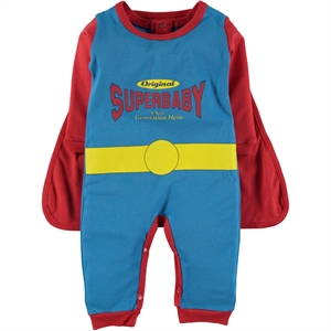 Çimpa 3-18 Months Superbaby Jumpsuit With Cape Red Blue