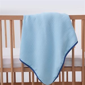 Mycey Muslin Blanket, 90x90 cm, Blue