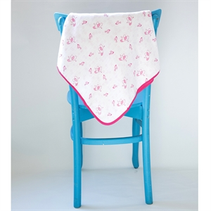 Mycey Starbird Pink muslin Blanket, 90x90 cm