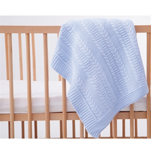 Mycey Blue knitted Blanket 90x100 CM