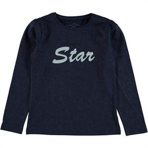 Cvl Kids Girl Age 10-13 Combed Cotton Navy Blue Sweatshirt