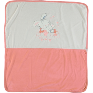 Kujju Light tan Velour Baby Girl Blanket 80x90cm (2)