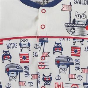 Kujju Indigo Combed Cotton Pajama Outfit 0-6 Months (3)