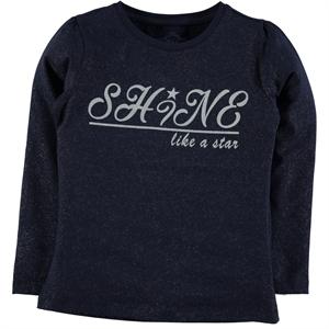 Cvl Kids Age 6-9 Girl Combed Cotton Navy Blue Sweatshirt