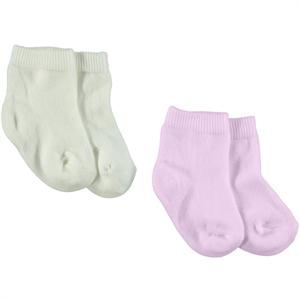 Baby Center 2'li Çorap 0-24 Ay Pembe
