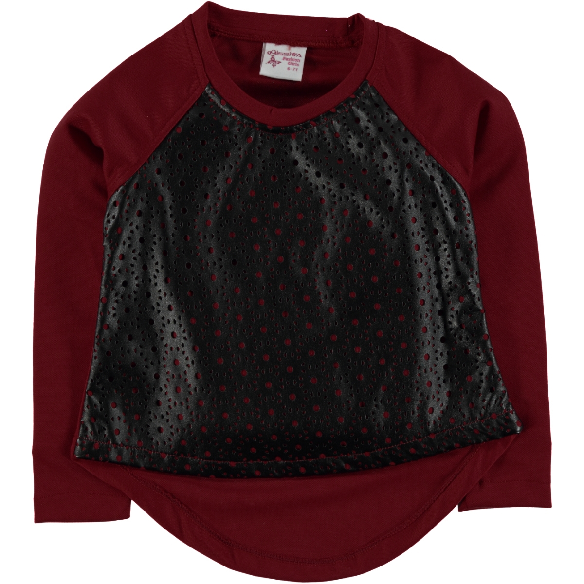 Missiva The Ages Of 6-10 Kids Girl Sweatshirt Burgundy