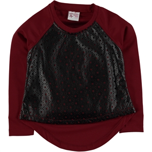 Missiva The Ages Of 6-10 Kids Girl Sweatshirt Burgundy (1)