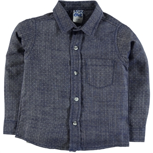 Civil Boys Navy Blue Linen Shirt Boy Age 6-10
