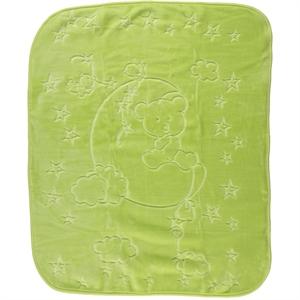 İlk Cemre Kabartmalı Peluş Battaniye 100x120 cm Yeşil