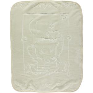 İlk Cemre Kabartmalı Peluş Battaniye 100x120 cm Ekru
