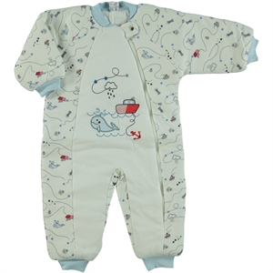 Misket Blue Combed Cotton Sleeping Bag 1-5 Years