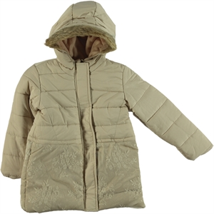 Civil Girls Lace Beige Hooded Jacket Age 6-10