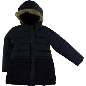 Civil Girls Lace Navy Blue Hooded Jacket Age 6-10