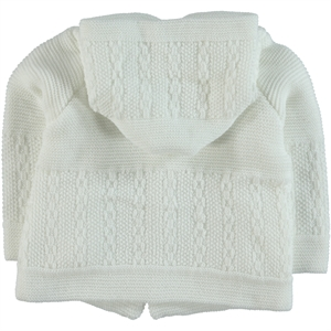Kaşif Hooded Cardigan Hooded Sweater White 0-1 Years (3)