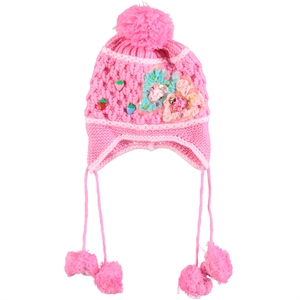 Prahar Girl Sweater Hat Pink 8-12 Years