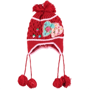 Prahar Girl Red Sweater Beret 8-12 Years