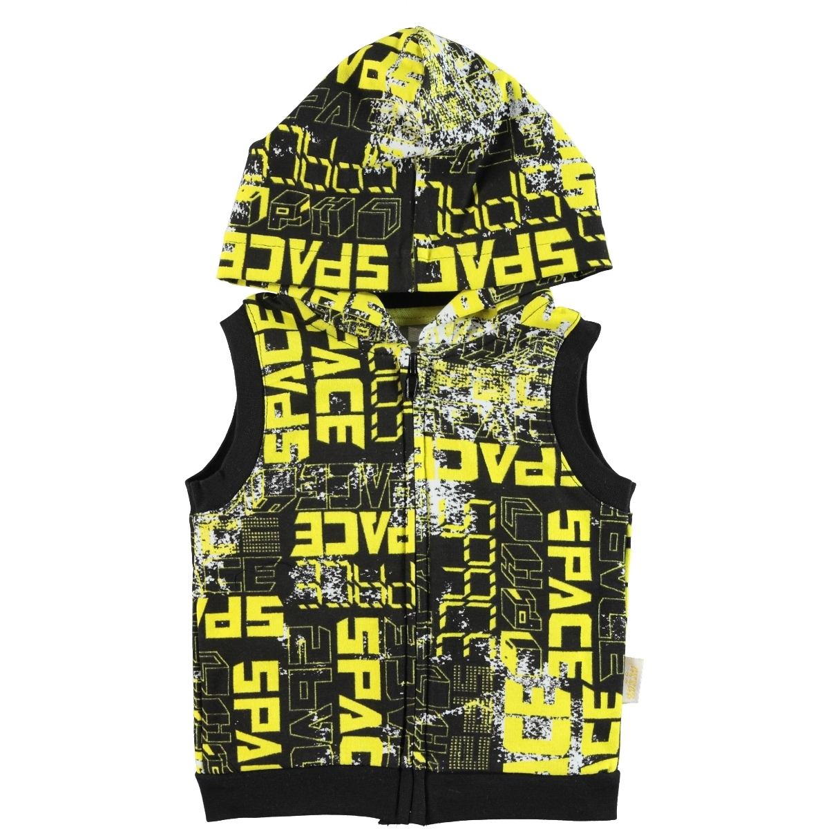 Kujju 6-18 Months Baby Boy Hooded Vest Yellow