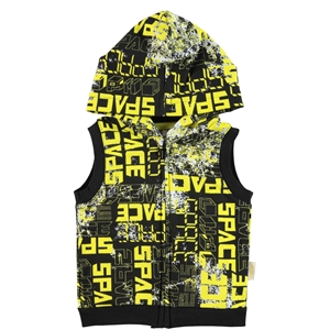 Kujju 6-18 Months Baby Boy Hooded Vest Yellow (1)