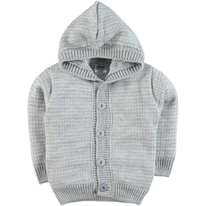 Civil Baby Baby Boy Hooded Sweater Cardigan Grey 6-24 Months