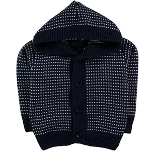 Civil Baby Baby Boy Hooded Cardigan Sweater Navy Blue 6-24 Months