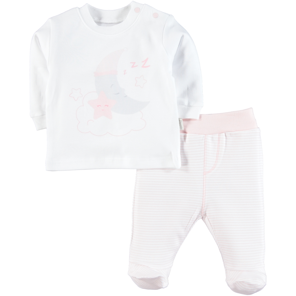 Kiti Kate Organic Combed Cotton Suit 0-9 Months Pink