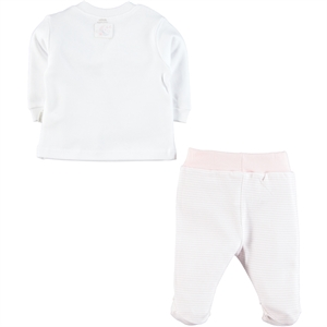 Kiti Kate Organic Combed Cotton Suit 0-9 Months Pink (2)