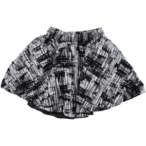 Civil Girls Black Leaf Skirt 3-11 Years