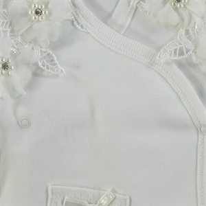 T.F.Taffy Taffy Baby Girl Suit Combed Cotton Ecru 0-3 Months (2)