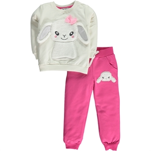 Cvl The Track Suit Girl Child 2-5 Years Ecru