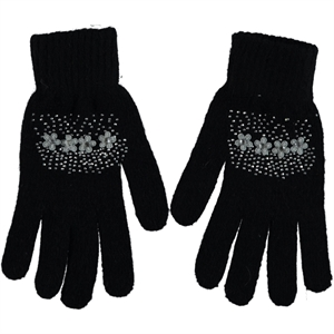 Suyutti Kid Gloves 12-16 Age Girl Black Sweater