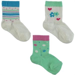 Civil Girls 3-Socks 3-12 Yesil
