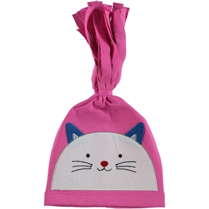 Leoncino Fuchsia Combed Cotton Hat 0-6 Months