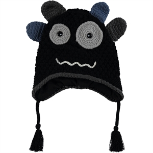 Kitti Boy Beanie Black Sweater 4-12 Years