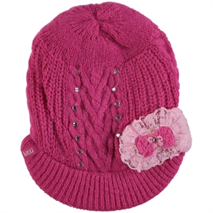 Kitti Age 1-4 Girl Beret Sweater Fuchsia
